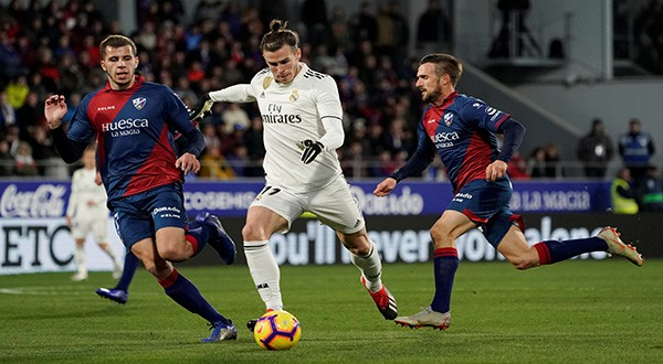 El Real Madrid se llevó la victoria (0-1) de Huesca gracias al gol de Bale