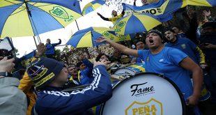 Fanáticos tomaron el centro de Madrid para un banderazo