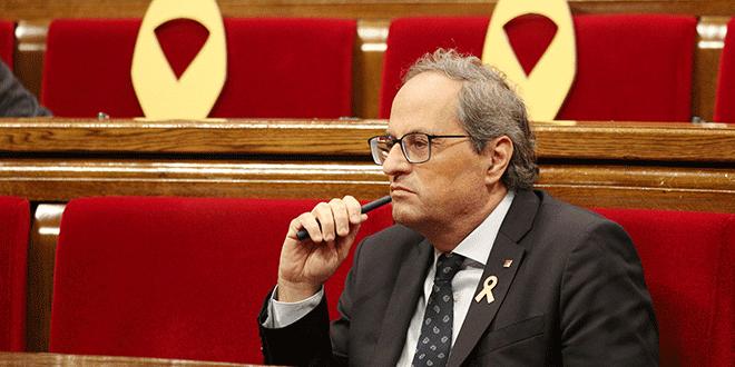 """Gobierno rechaza las declaraciones de Quim Torra por aludir a la """"vía eslovena"""" en Cataluña"""