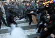 Independentistas protestaron contra la ultraderecha en Terrasa y Girona