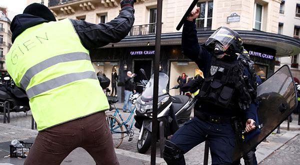 Aunque disminuyen, las protestas en Francia no se han detenido