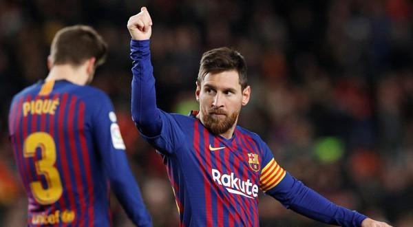 Lionel Messi celebra su gol ante el Eibar /REUTERS