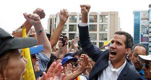 """Juan Guaido, se ha juramentado como presidente constitucional de Venezuela y ha dicho en su intervención que """"esto es un movimiento indetenible"""". Venezuela, 23 de enero de 2019. Foto: REUTERS/Carlos Garcia Rawlins"""