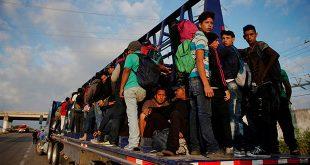Un grupo de migrantes en su camino a EEUU en la localidad mexicana de Ingenio Santo Domingo, el 23 de enero de 2019. REUTERS/Alexandre Meneghini