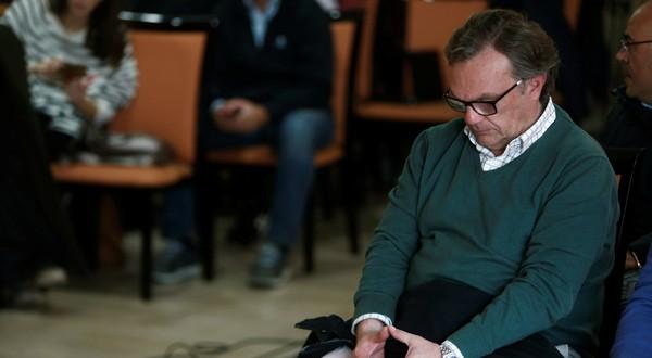 El ingeniero Ángel García, el director del operativo de rescate durante la rueda de prensa de Gómez de Celis