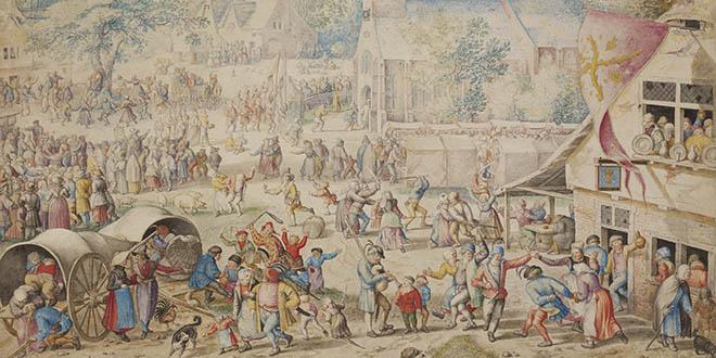 Detalle de «Kermés popular»