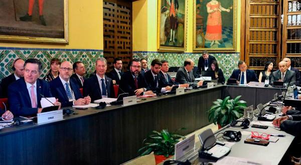 Ministros de Relaciones Exteriores de países de América participan de una reunión del Grupo de Lima sobre Venezuela, en la capital peruana. 4 de enero de 2019. REUTERS/Mariana Bazo