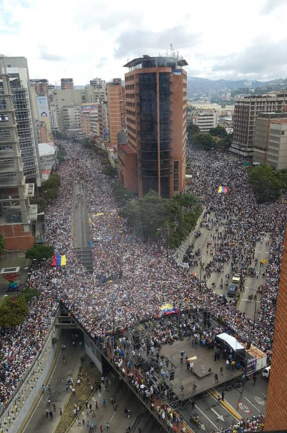 Manifestaciones del 23 de enero en el centro de Caracas
