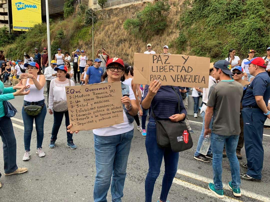 Manifestaciones del 23 de enero en las calles de Caracas