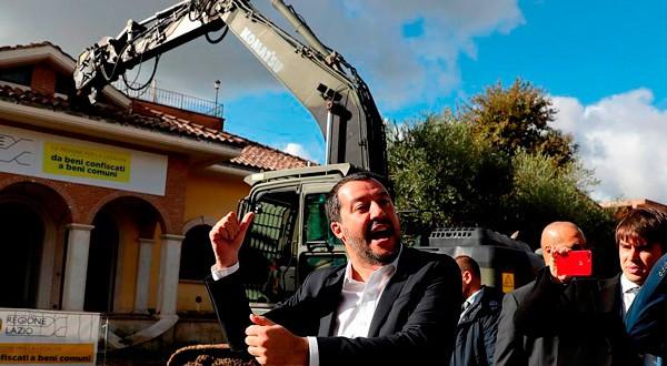 POPULISMO EN EUROPA. El ultraderechista líder de la Liga Norte en Italia, Matteo Salvini, es uno de los rostros del populismo nacionalista del Viejo Continente. REUTERS