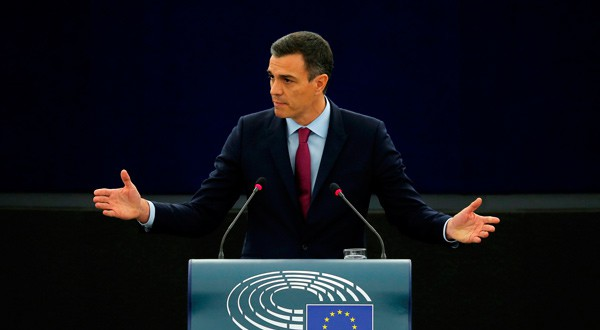 El presidente español en un encuentro de la Unión Europea. REUTERS