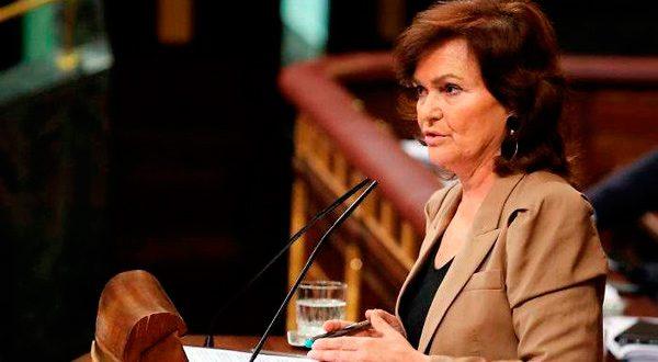 """Carmen Calvo: """"Gobierno afronta la situación de Cataluña con ley y diálogo"""""""