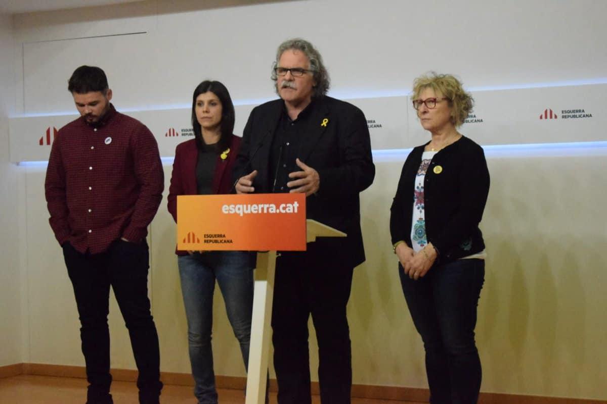 """Joan Tardà: """"Hasta el día 12 el Gobierno español tiene en su techo aceptar lo que consideramos razonable: una negociación para el derecho a la libre determinación"""". Foto: @Esquerra_ERC."""