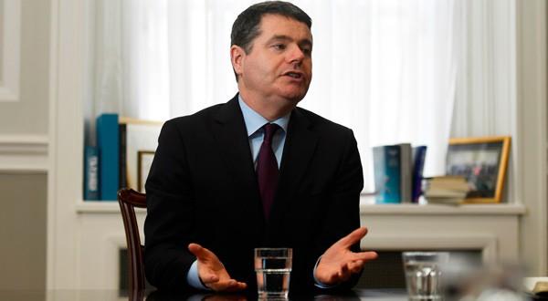 El ministro orlandés de Finanzas, Paschal Donohoe, en una entrevista en Dublín.