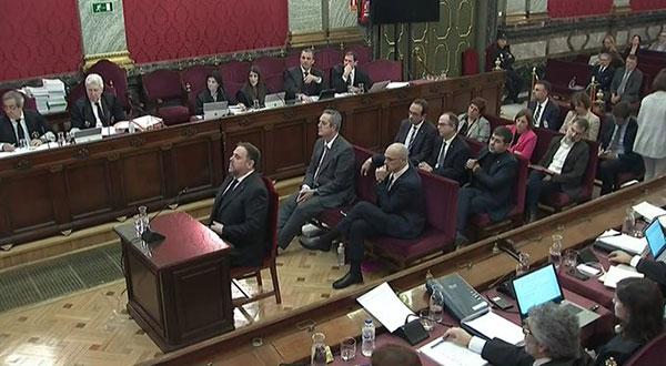Con Junqueras se iniciaron los interrogatorios en el juicio del procés / @Esquerra_ERC