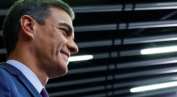 El presidente del Gobierno de España, Pedro Sánchez, cuando anunció el anticipo electoral.
