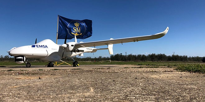 Dron empleado por Salvamento Marítimo