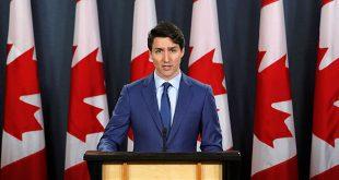 El primer ministro de Canadá, Justin Trudeau, en una rueda de prensa en Ottawa a principios de marzo.