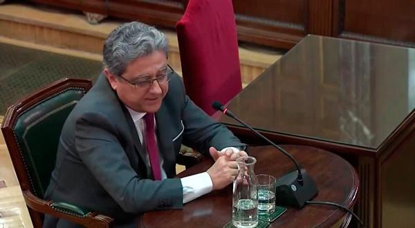 Enric Millo, exdelegado del Gobierno catalán, declarando ante el Tribunal Supremo.