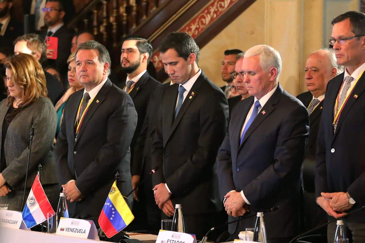 En el marco de su gira por Suramérica, el presidente interino de Venezuela, Juan Guaidó, estuvo presente en la reunión del Grupo de Lima y sostuvo un encuentro privado con el vicepresidente de Estados Unidos, Mike Pence