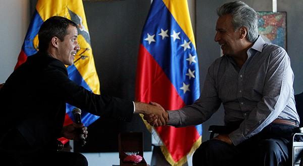 """Presidente Guaidó: """"El problema de Venezuela es de democracia y dictadura"""". La afirmación la hizo durante su visita a Ecuador"""