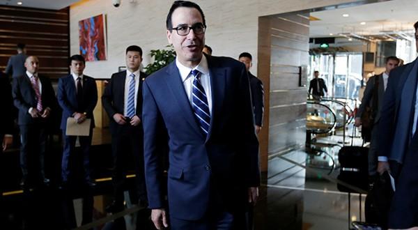Conversaciones entre Estados Unidos y China dejan buen ambiente en Pekín. La semana próxima seguirán en Washington. En la imagen el secretario del Tesoro estadounidense Steven Mnuchin