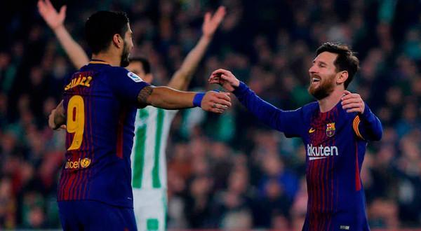 Luis Suárez y Lionel Messi tuvieron un juego de ensueño.
