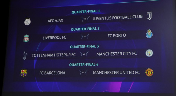 cuartos de final de la Champions