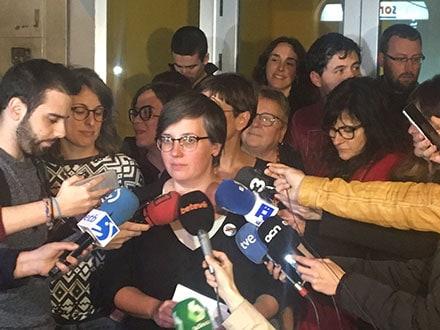 """Mireia Boya expresó que no se trata de """"un adiós"""" al partido, sino de un """"hasta pronto""""."""