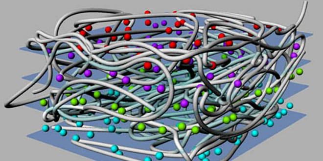Milhojas de nanocelulosa, flexible y multifuncional, desarrollado por un equipo del Instituto de Ciencia de Materiales de Barcelona del CSIC.