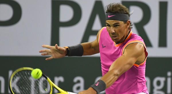 Rafael Nadal durante su debut en Indian Wells
