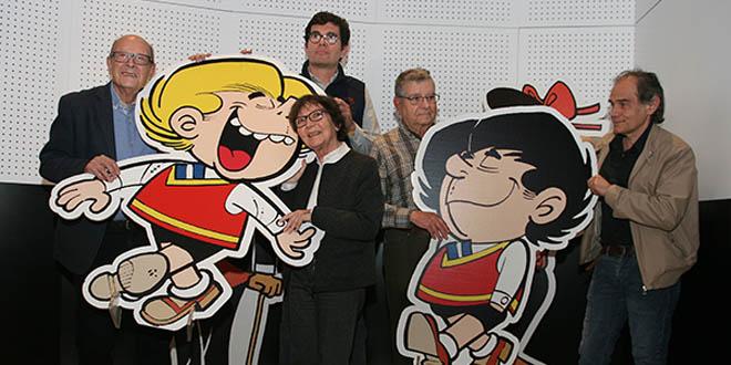 Ibáñez, Sergi Escobar, Javier Pérez Andújar y los hijos de Escobar, Carles y Montse