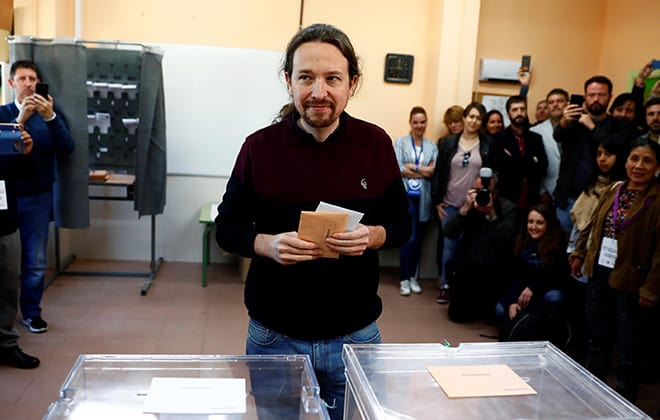 Pablo Iglesias y Unidas Podemos, el gran perdedor del proceso electoral de este domingo 26 de mayo, el gran perdedor