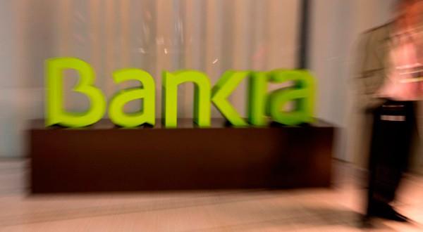 Logo de Bankia en la sede del banco en Madrid