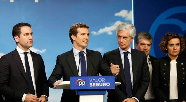El PP de Pablo Casado fue el gran perdedor de la jornada. Cortesía.