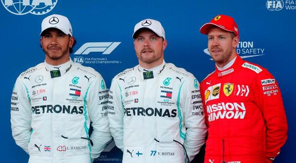 Bottas, Hamilton y Vettel, los primeros en la parrilla de salida para el GP de Azerbaiyán.
