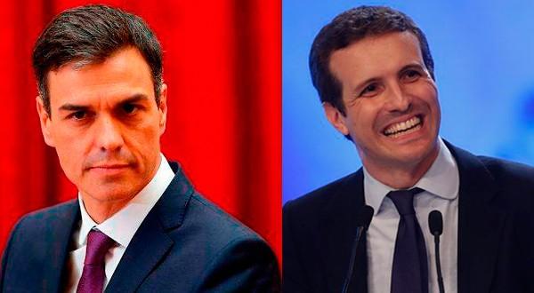 El jefe de Gobierno Pedro Sánchez, que se ve con una importante ventaja en todos los sondeos, ha esquivado el cara a cara con el líder de la oposición Pablo Casado