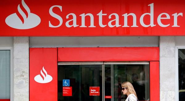 Una sede del banco Santander en Río de Janeiro, Brasil.