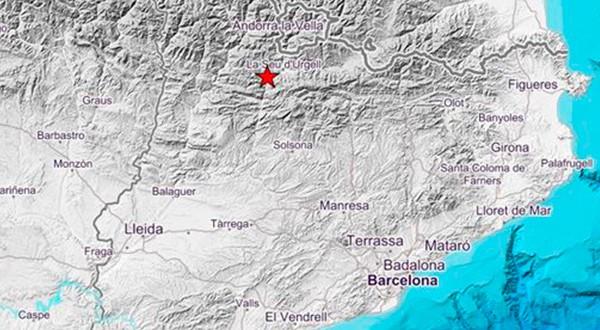 Movimiento telúrico sacudió a Cataluña. Se trataría del terremoto más potente en suelo catalán en las últimas dos décadas/Cortesía Instituto Geográfico Nacional