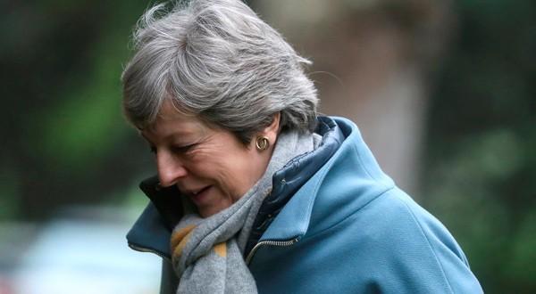 La primera ministra británica, Theresa May, cerca de High Wycombe, Reino Unido.