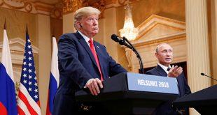 prensa tras la cumbre bilateral celebrada en Helsinki el 16 de julio de 2018.