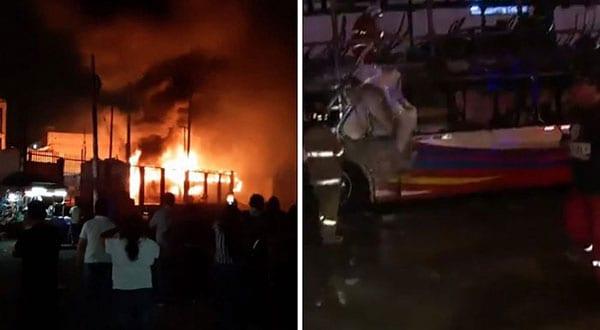 Las autoridades peruanas estiman que un chispazo pudo haber sido la causa del incendio del autobús en Lima.