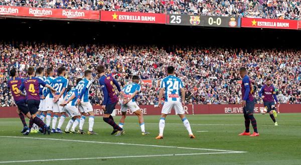 gol de Messi ante el Espanyol