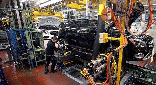 La variación del Índice de Producción Industrial entre febrero y enero fue del menos 1,1 por ciento.