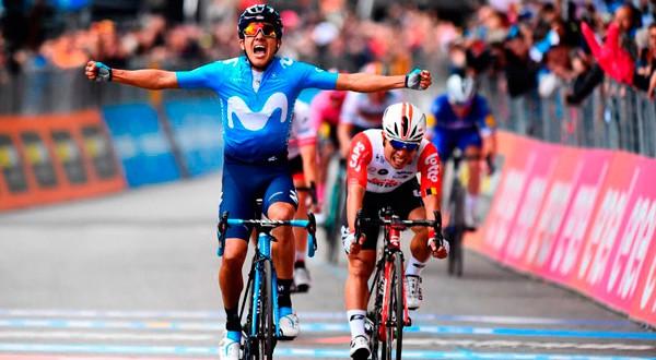 El ecuatoriano de Movistar se quedó con la cuarta etapa del Giro de Italia 2019. Foto: Cortesía