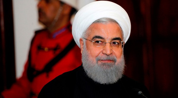 El presidente iraní, Hassan Rouhani, durante una conferencia de prensa.