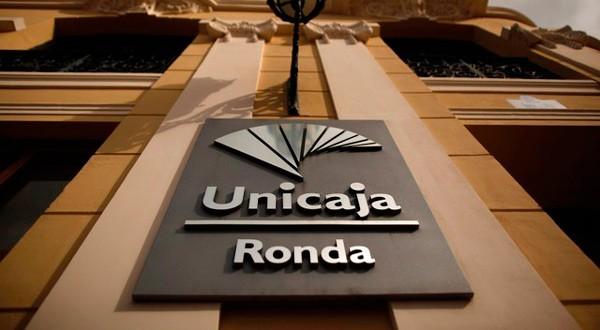 Logo de Unicaja.