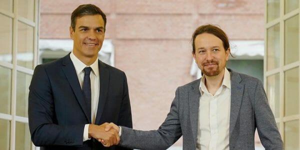 Al término de la reunión con Sánchez, Iglesias declaró que la voluntad de ambas partes es positiva y estima que dará un buen resultado.