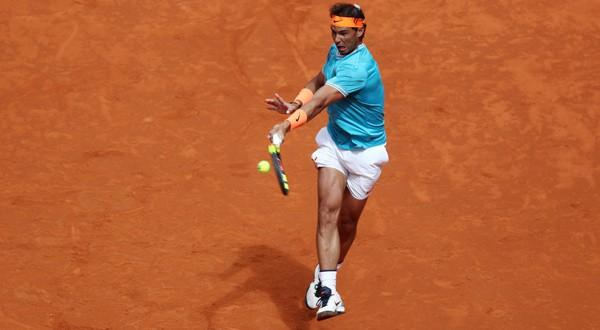 Rafael Nadal durante su debut en el Mutua Madrid Open