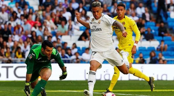 Mariano marcó un doblete en la victoria del Real Madrid